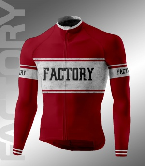 BAVIERA FACTORY SPORT WEAR GENOVA ABBIGLIAMENTO INVERNALE CICLISMO LONG SLEEVE JERSEY Vintage OLD SCHOOL DARK RED