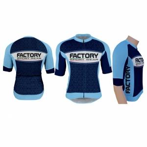 Factory Sport Wear - Cycling - Abigliamento da ciclismo Italia - Maglia Sanremo SF2 Blu scuro e azzurro